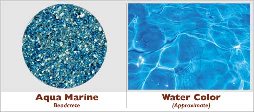 Nice Example Pool · Aqua Marine Beadcrete Glass Bead Pool Finish
