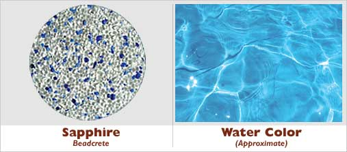 Example Pool · Sapphire Beadcrete Glass Bead Pool Finish