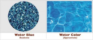 Water Blue Beadcrete Glass Bead Pool Finish