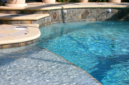 Coping tile decks plumbing equipment more skinner pools - Swimming pool tiles designs ...