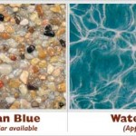 Caribbean Blue Exposed Pebble Swimming Pool Surface