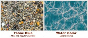 Tahoe Blue Exposed Pebble Swimming Pool Surface